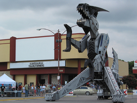 Robosaurus at the Alamo