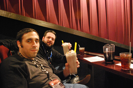 Neil from Film School Rejects and Peter from Slashfilm at the Alamo